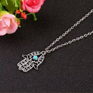 Jewelry - Hamsa Hand Pendant Necklace